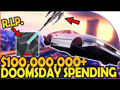 $100,000,000+ SPENDING SPREE -NEW DELUXO, STROMBERG, AVENGER, ORBITAL - GTA 5 ONLINE DOOMSDAY HEIST