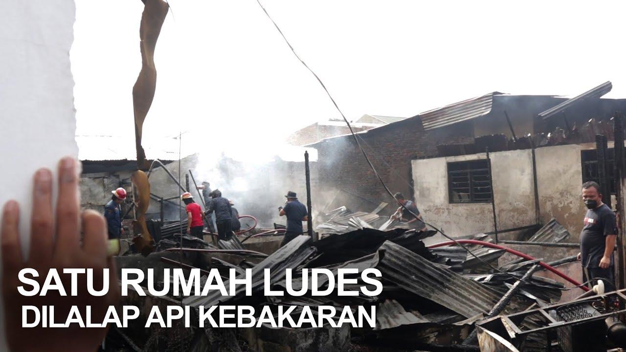 Kebakaran di Jalan Kiwi Medan, Satu Rumah Ludess