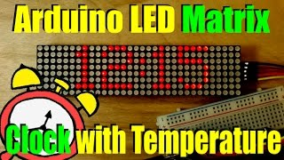 Arduino LED Matrix Clock