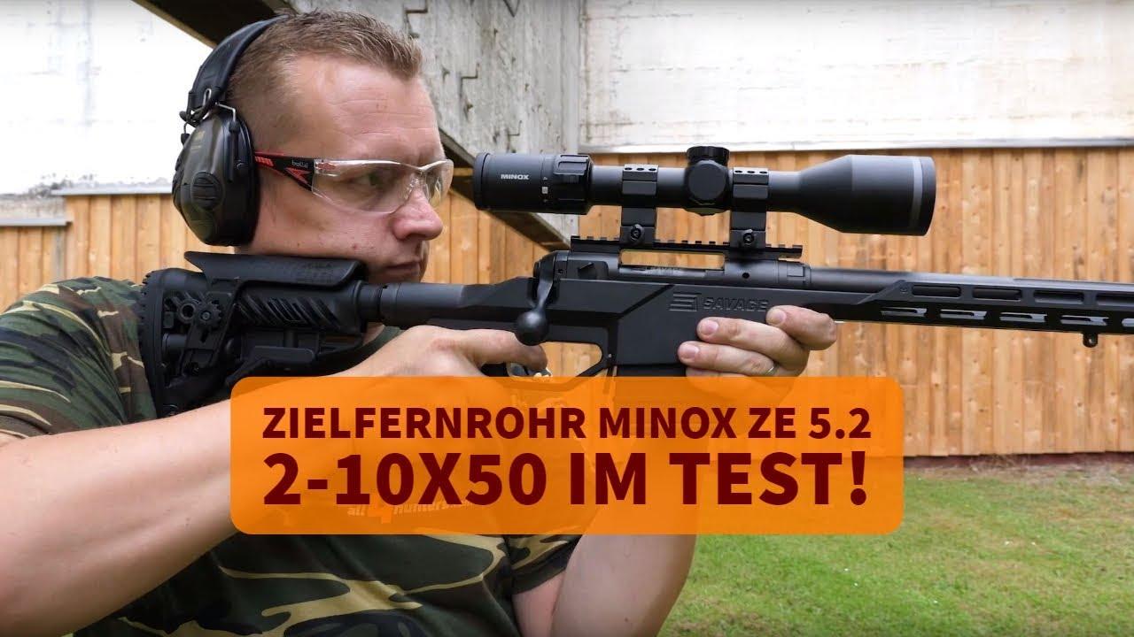 Zielfernrohr minox ze  im test youtube