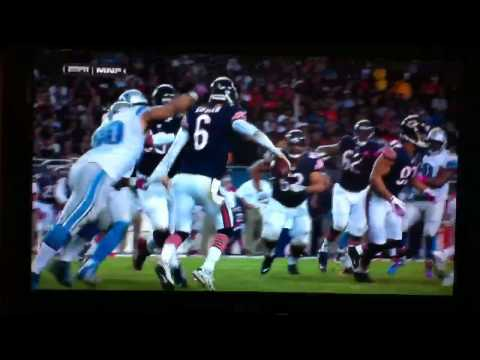 Ndamukong Suh hit on Jay Cutler