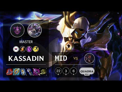 Kassadin Mid vs Lucian - KR Master Patch 10.13