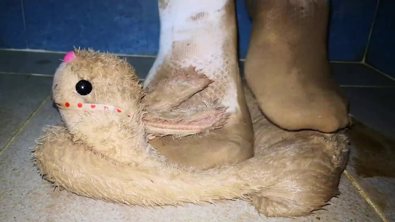 Muddy socks with bunny