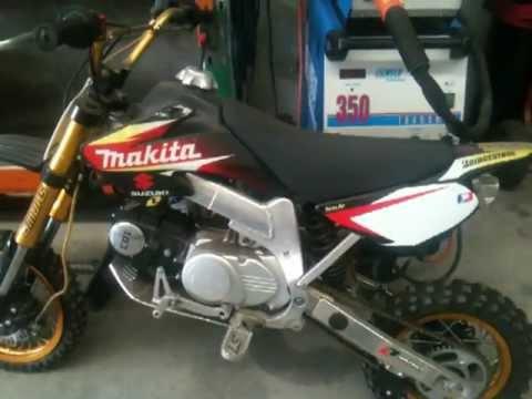 125cc pit bike alloy frame - YouTube