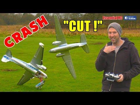 HobbyKing C-47 / DC-3 Maiden Flight NEAR DISASTER CRASH and first FLIGHT !