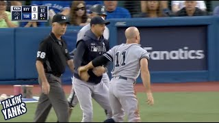 Brett Gardner gets ejected for saying nothing to the umpire, a breakdown