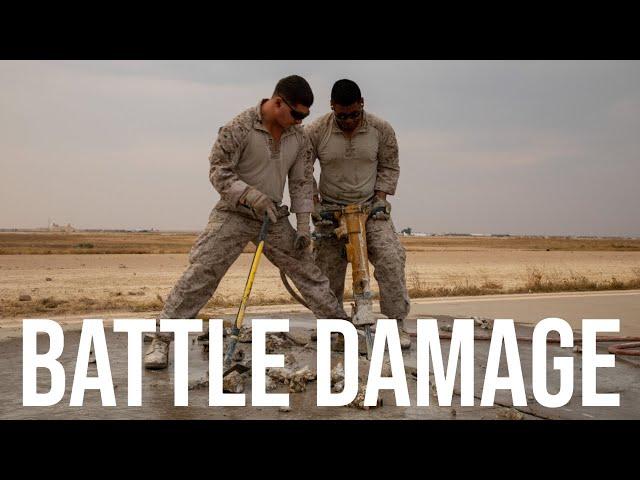 Repairing BATTLE DAMAGED Airfield