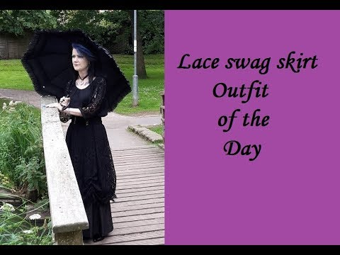Lace swag skirt OOTD