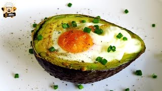 BAKED EGGS IN AVOCADO (PALEO)