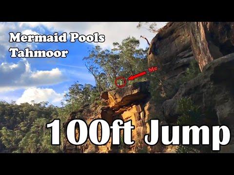 100ft Cliff Jump - Mermaid Pools Tahmoor
