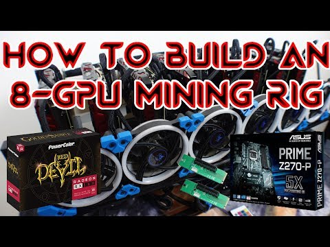 How To Build an 8 GPU Mining Rig Z270-P RX580 8G BlackOctane