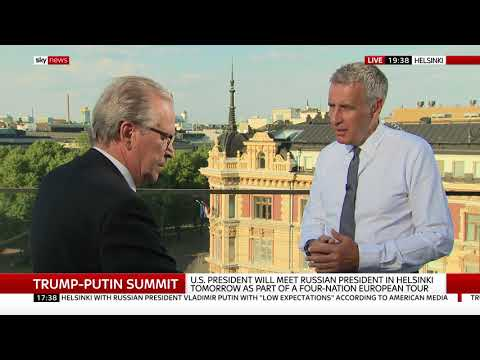 Professor Alpo Rusi's Interview For Sky News During The Helsinki Summit 2018