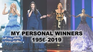 MY EUROVISION PERSONAL WINNERS 1956 - 2019