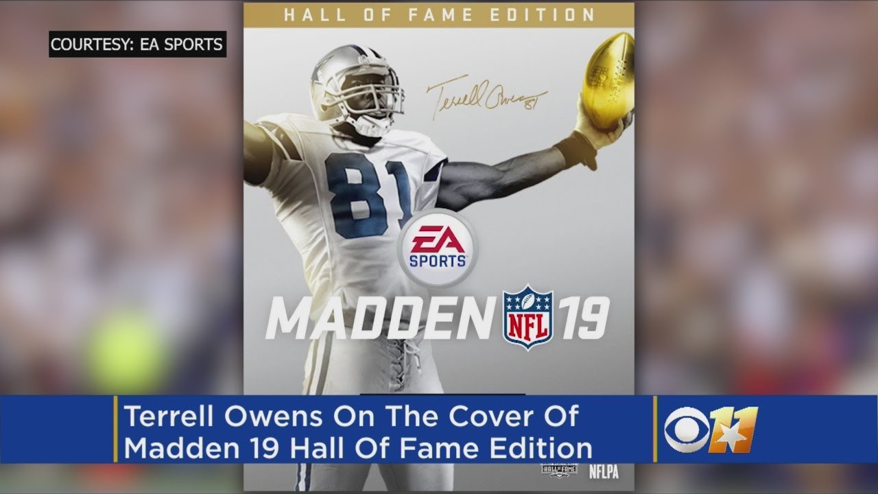 73b3b806b Terrell Owens Graces  Madden 19  Hall Of Fame Edition  Cover In Cowboys  Uniform