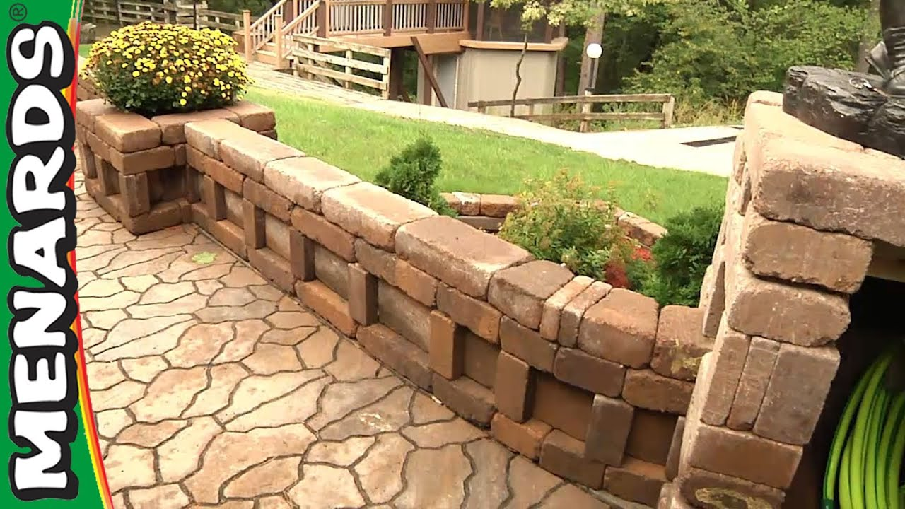 curved wall planter how to build menards