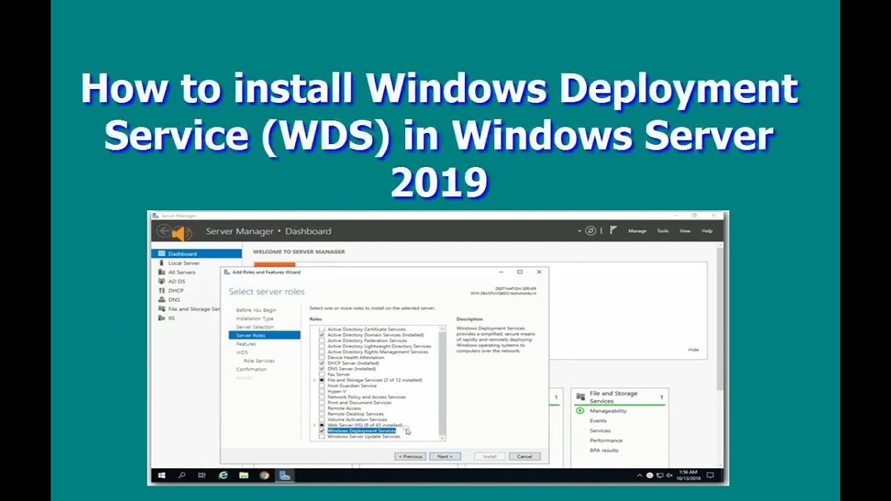 How to install Windows Deployment Service (WDS) in Windows Server 2019