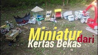 MINIATUR SEPEDA DARI MAJALAH BEKAS - Cara Membuat Miniatur- KORAN KEREN