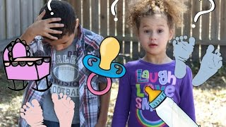 Kids react to Baby Annoucement! Baby #3!