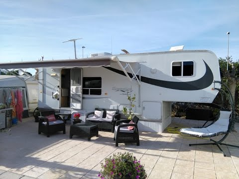 Kountrylite Fifth Wheel For Sale On Camping Villamar Caravan Park,  Benidorm, Costa Blanca, Spain