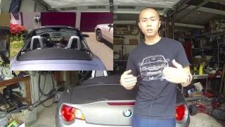 DIY Wind Deflector - BMW Z4 Vlog #27