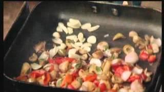שגבצ בא לבשל - כבד עוף עם פטריות וצמחי תבלין