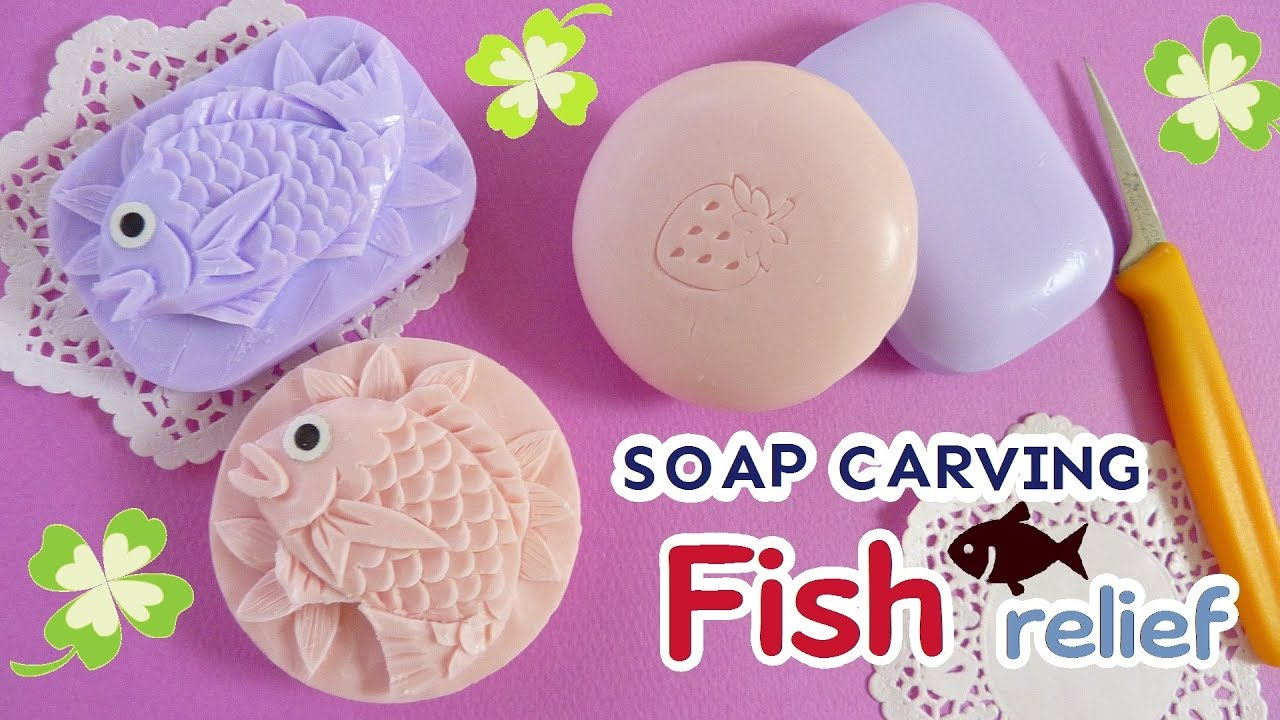 Soap carving basic fish in a tutorial how to