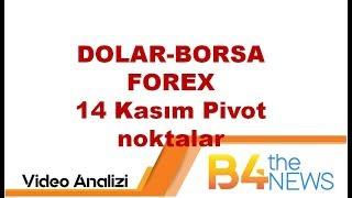 14 Kasım DOLAR-BORSA-FOREX Pivot noktalar