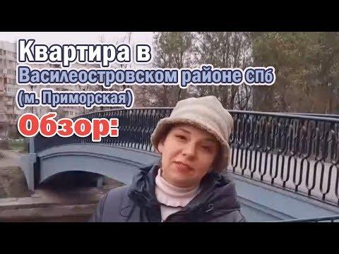 Обзор: Квартира в Василеостровском районе СПб (м. Приморская)