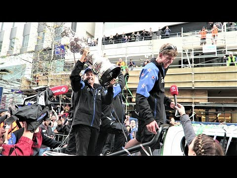 Emirates Team New Zealand America's Cup Parade Queen Street to Viaduct 2017