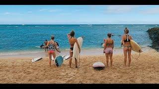 A girls surf day Hawaii Oahu