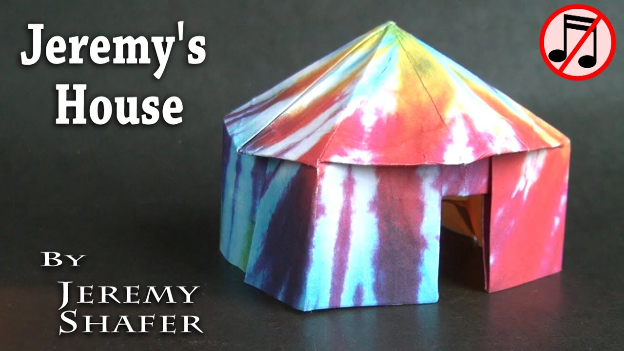 Origami pop up house no music youtube for Pop house music