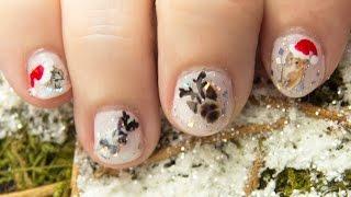 Diseño de uñas de Navidad calcomanías animales / Christmas nail water decals pets BornPrettyStore