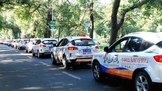 Pak-China car rally rolls into Mohenjo Daro from Sukkur