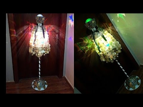 DIY || Room Decor Idea || Floor Lampshade: