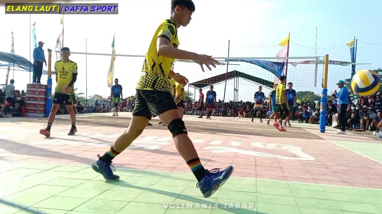 DAFFA SPORT || Rafly setter terbaik Subang lakukan spike jedug garis serang