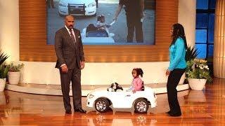2 year old gets a speeding ticket!