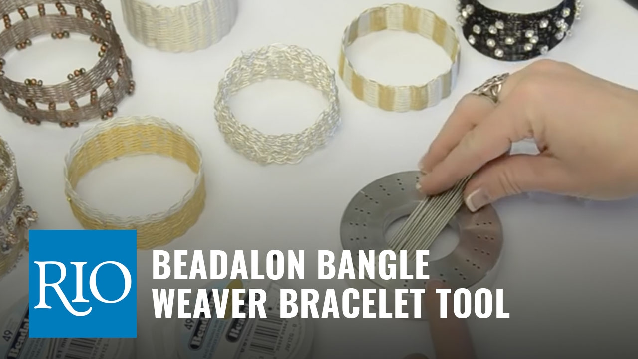 How To Use the Beadalon® Bangle Weaver Bracelet Tool - YouTube