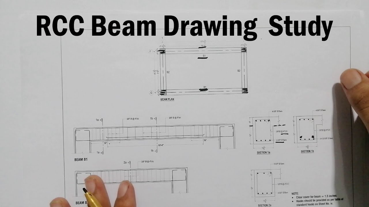How to Read Beams Structure Drawing - Study of Beam Drawing