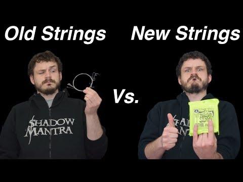 Testing Old Guitar Strings vs. New Guitar Strings