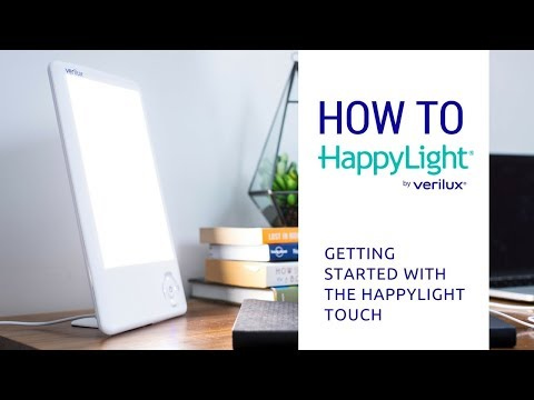 How To Use The Happylight Touch Led Light Therapy Lamp Youtube