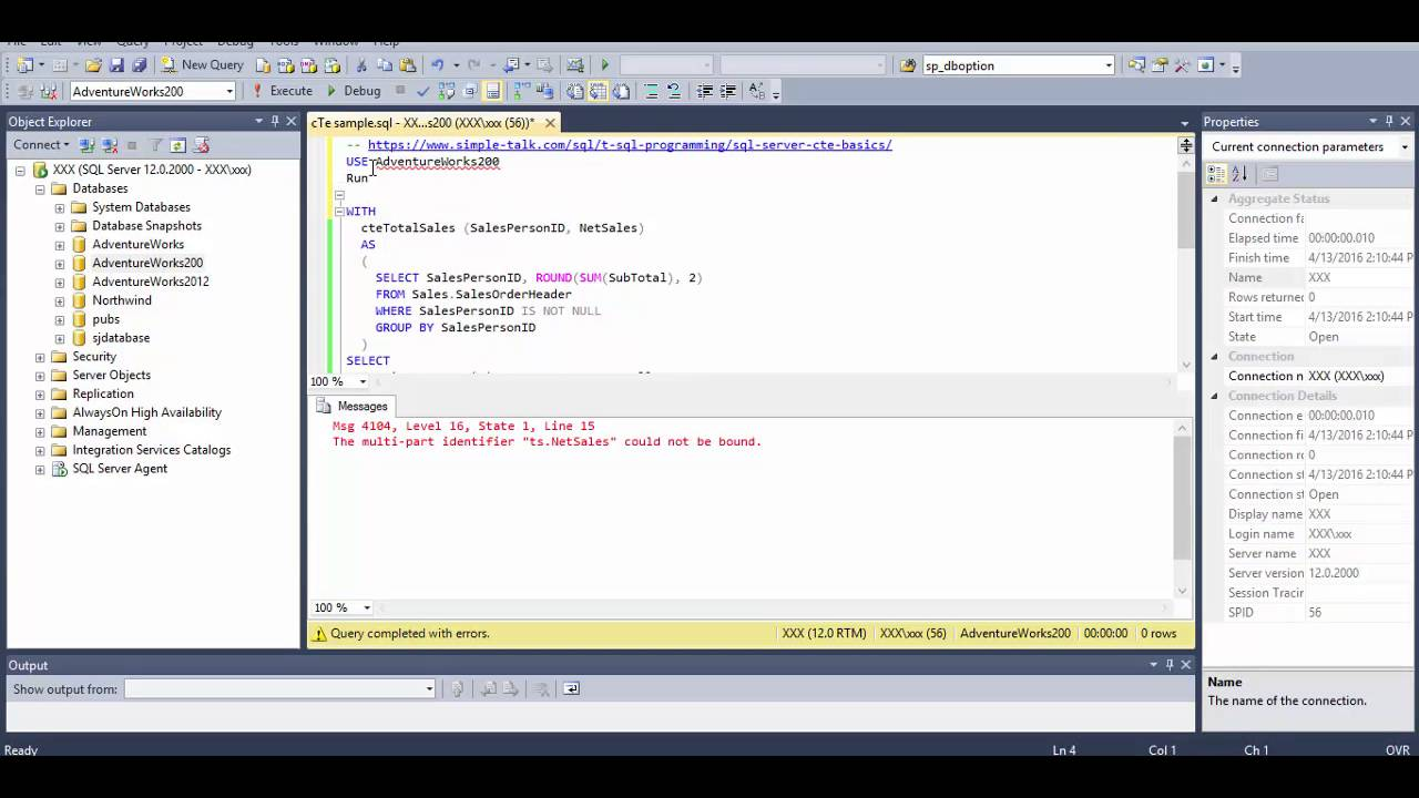 Recursive CTE for SQL Server Example from Adventurework2008