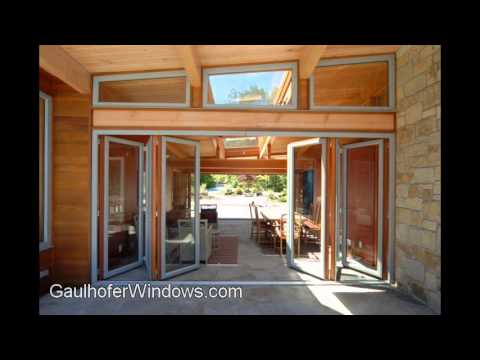 Gaulhofer 6 Panel Folding Door Operation - YouTube
