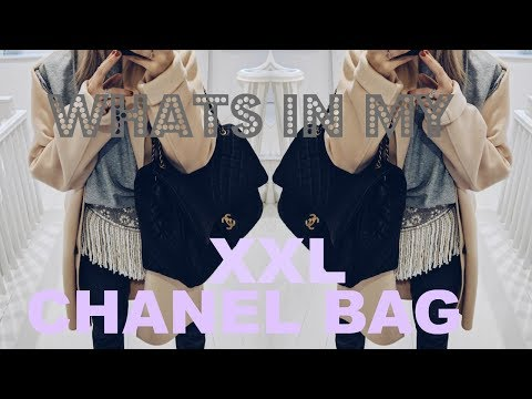 VLOGNOEL #3 | WHATS IN MY XXL CHANEL CLASSIC FLAP BAG | IAM CHOUQUETTE