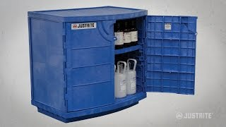 Justrite Polyethylene Cabinet for Corrosives