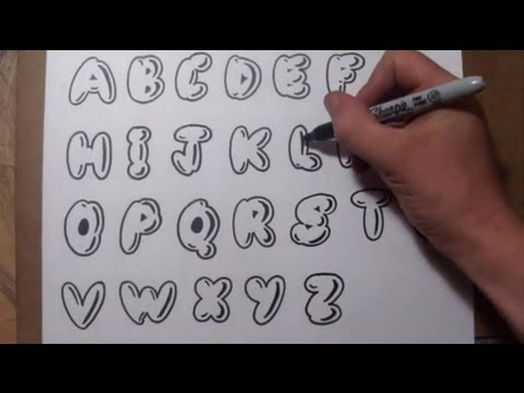 How To Draw Bubble Letters - Easy Graffiti Style Lettering