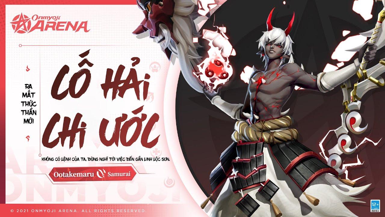 🌸Onmyoji Arena: New Shikigami Ootakemaru [Đại Nhạc Hoàn] – Samurai Lả Lướt