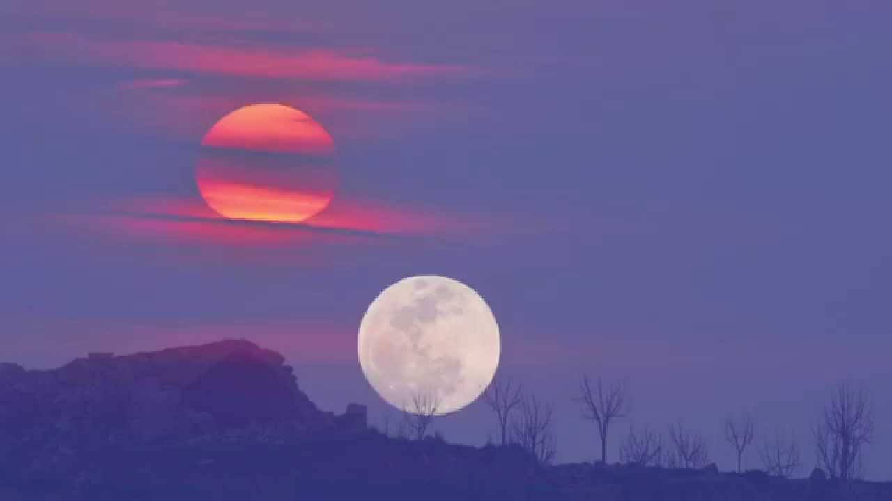 Image result for sunset and moonrise