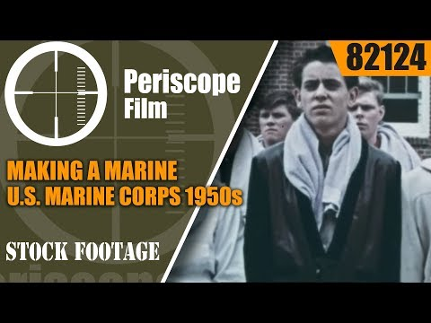 MAKING A MARINE  U.S. MARINE CORPS 1950s RECRUITING FILM 821