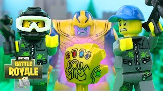 LEGO Fortnite Battle Royale STOP MOTION LEGO Fortnite Thanos Gauntlet Chaos | LEGO | By Billy Bricks