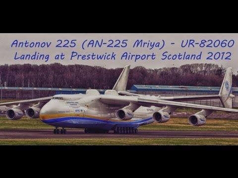 Antonov 225 (AN-225 Mirya) lands Glasgow Prestwick (Scotland)